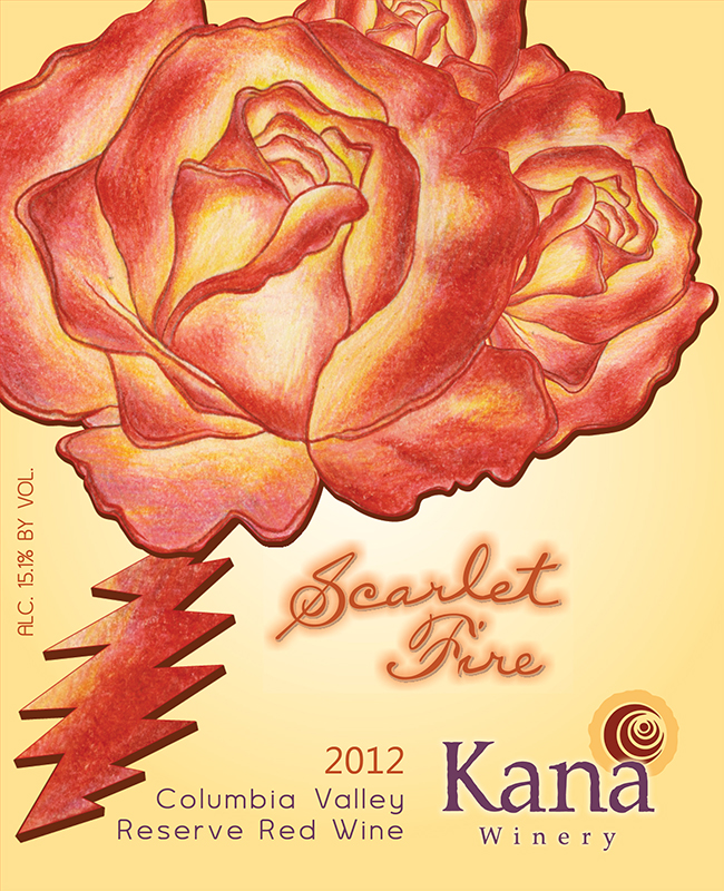Kana Winery 2011 Scarlet Fire, Reserve Red Wine, Columbia Valley